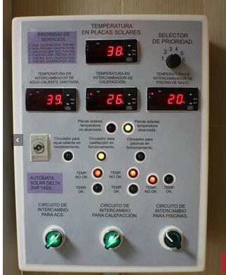 Placas solares termostato control